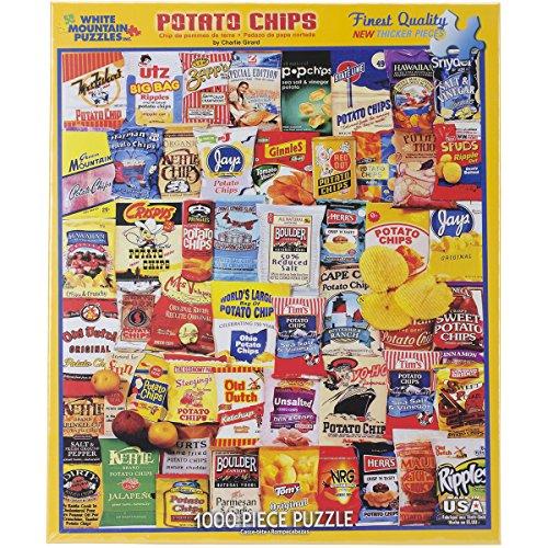 White Mountain Puzzles Potato Chips - 1000 Piece Jigsaw Puzz