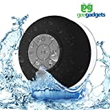 Portable Bluetooth Shower Speaker with Suction Cup - Waterproof, Built in Mic, Universal Phone & Tablet Compatibility - Black - by Gee Gadgets