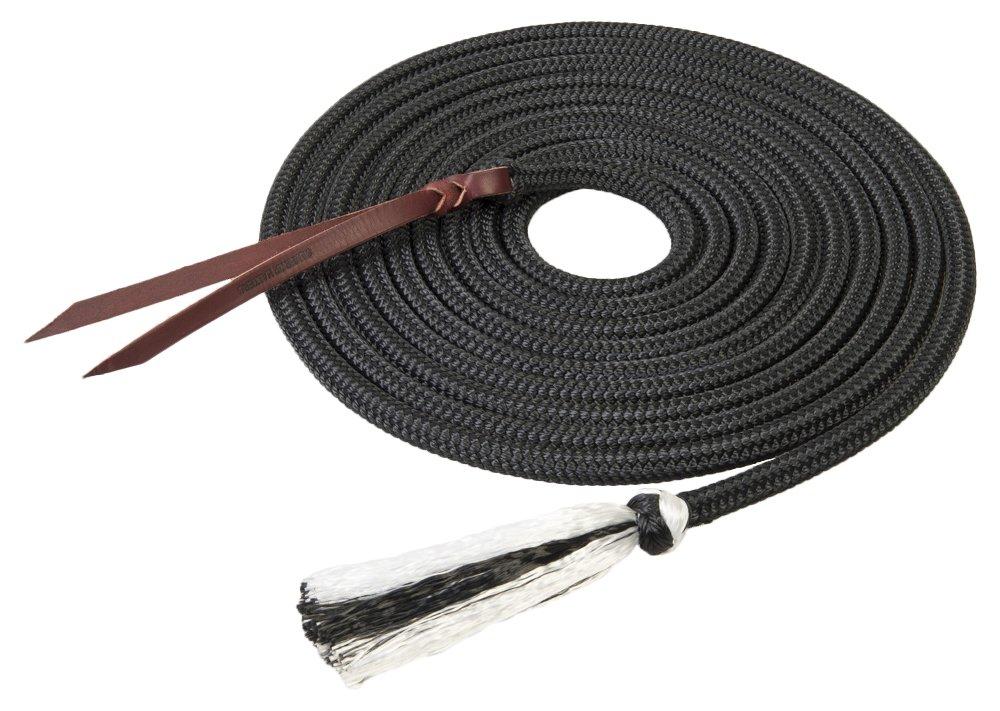 Weaver Leather Silgreenip Tree Line Mecate, Black, 1 2-Inch x 22-Feet