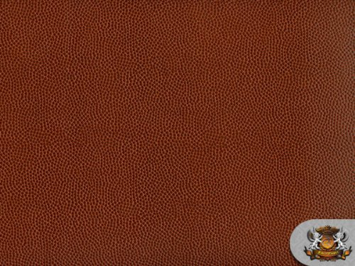 Vinyl Brown Match Leather (Vinyl Football Brown Fake Leather Upholstery Fabric By the Yard)