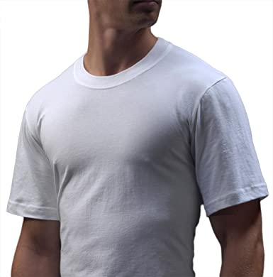 27890ad9f5fe4 Basics Men s 6 Pack Light Weight Cotton Crew Neck T Short Sleeve  Undershirts (Small (