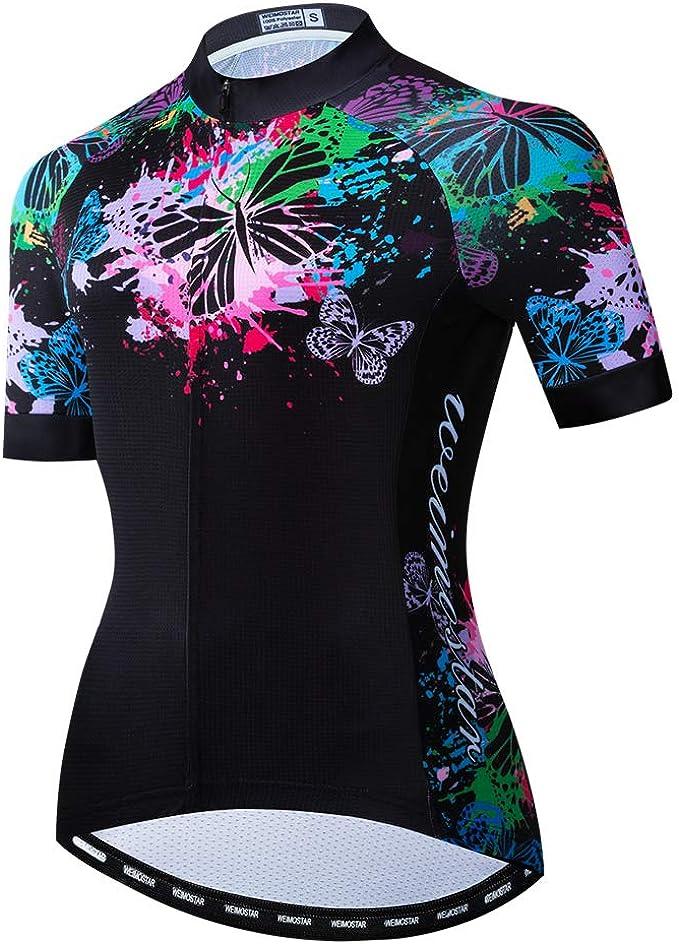 Weimostar Ciclismo Manica Lunga Maglia Donna Mountain Bike Jersey Camicie Abbigliamento Bici da Strada Lunga