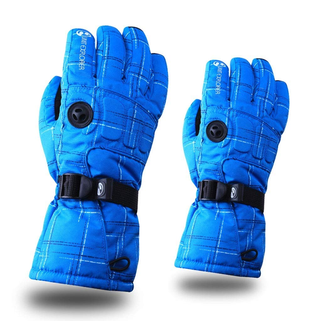 LQQGXL Protective Gloves Waterproof ski Gloves Men's Warm Cold Weather skis Warm Gloves Cycling Bicycles (Color : Blue)
