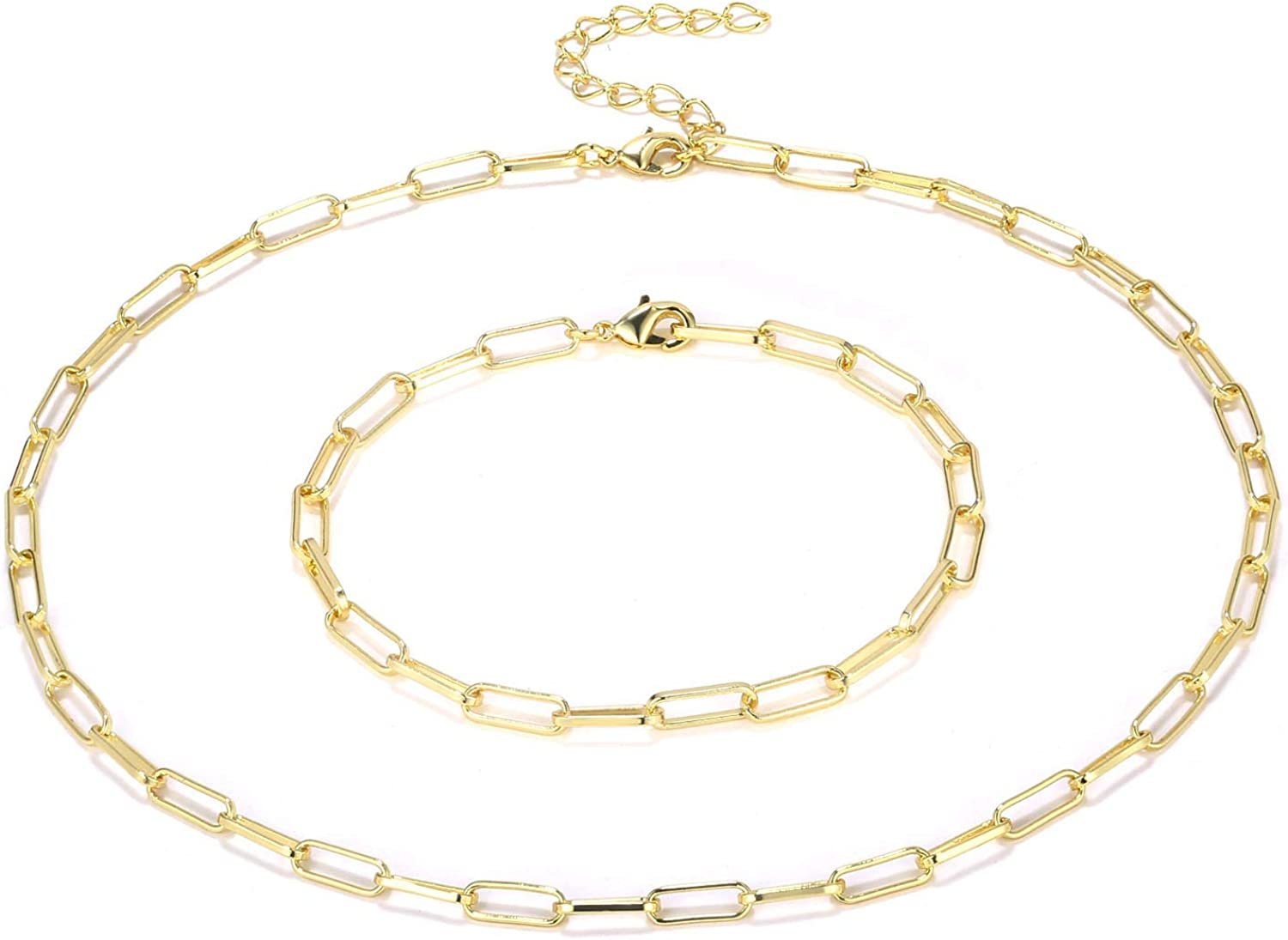 Paper Clip Chain dainty layering chain minimal 14k gold filled necklace