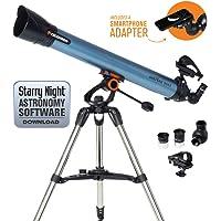 Celestron Inspire - Telescopio astronómico (80 mm de Apertura, 900 mm de Distancia Focal, f/11 de relación Focal) Color Azul y Negro
