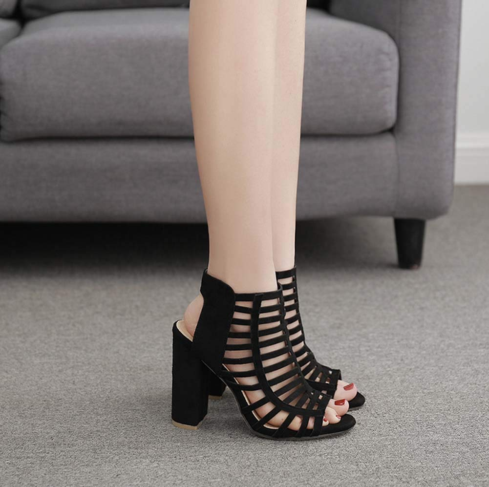 GHFJDO Frauen Roman Sandalen, Sommer Neue offene Zehenschuhe, Ankle Strappy Strappy Strappy Chunky Heels Dress Party Pumps 813e60