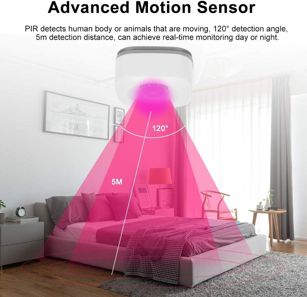 Extaum D/étecteur Infrarouge Passif Tuya APP avec d/étecteur de Mouvement WiFi Contr?Le Compatible avec IFTTT pour Les alarmes antivol de s/écurit/é pour Les Bureaux /à Domicile