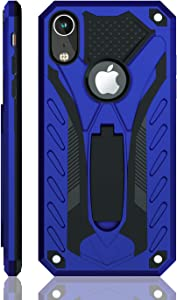 iPhone XR Case | Military Grade | 12ft. Drop Tested Protective Case | Kickstand | Wireless Charging | Compatible with iPhone XR - Blue