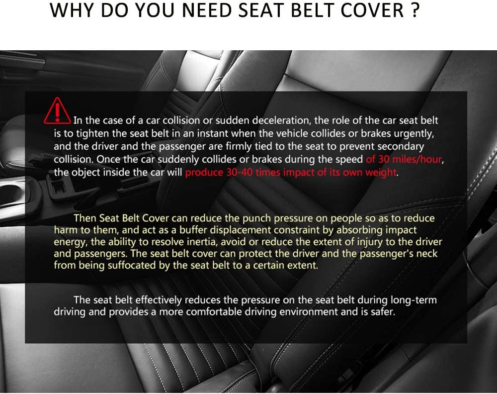 2 Pack Seat Belt Shoulder Strap Covers Protector to Release Stress to Your Neck and Shoulder for a Safety Driving surpassme Car Seat Belt Pads Cover Pink