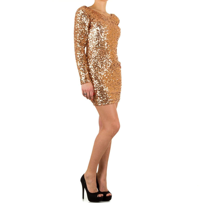 Damen Partykleid Pailletten Abendkleid Cocktailkleid Tanzkleid ...