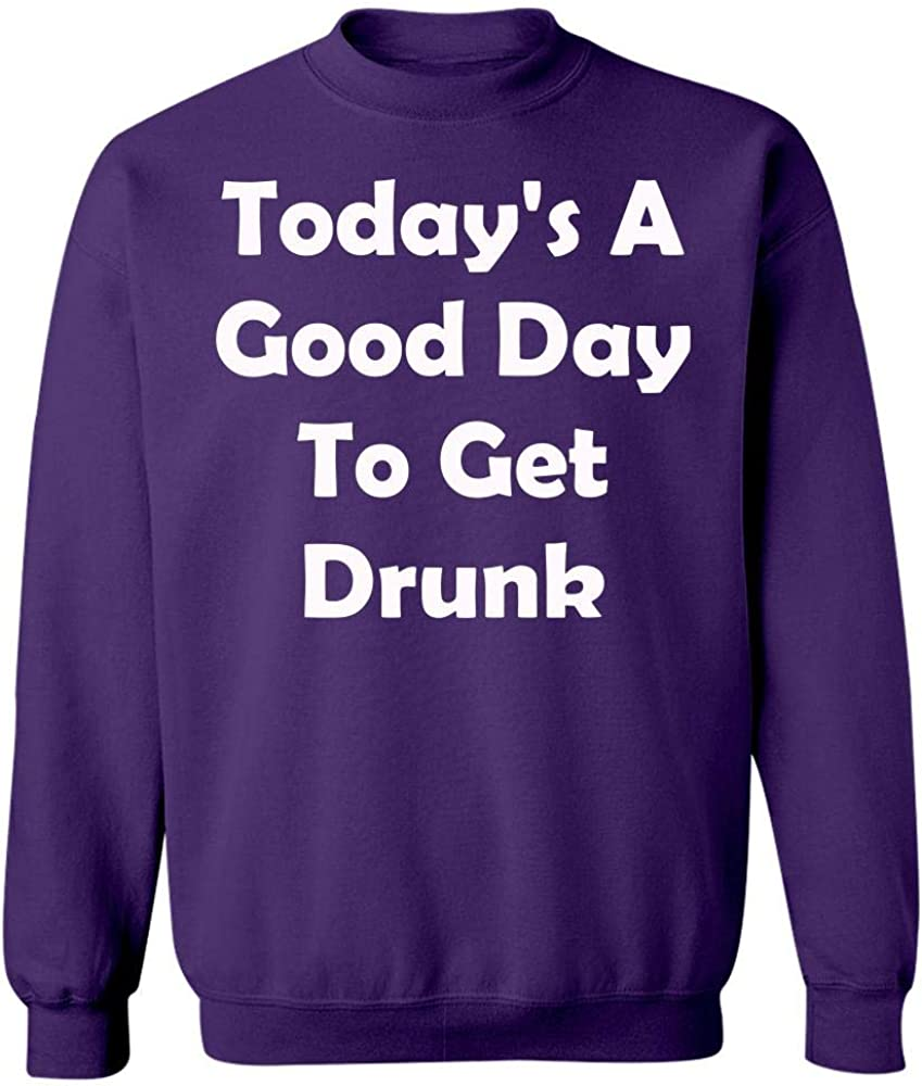 Todays A Good Day to Get Drunk Funny St Patricks Day Sweatshirt Purple