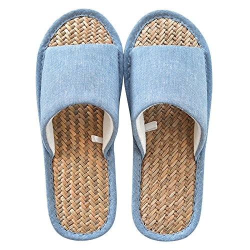 39 denim non slippers slippers Summer 40 linen slip blue 0zRnxqA