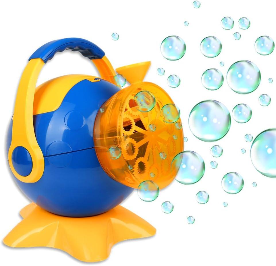 Seifenblasenpistole Seifenblasen Seifenblasenmaschine Rasenmäher Bubble Gun Fisc