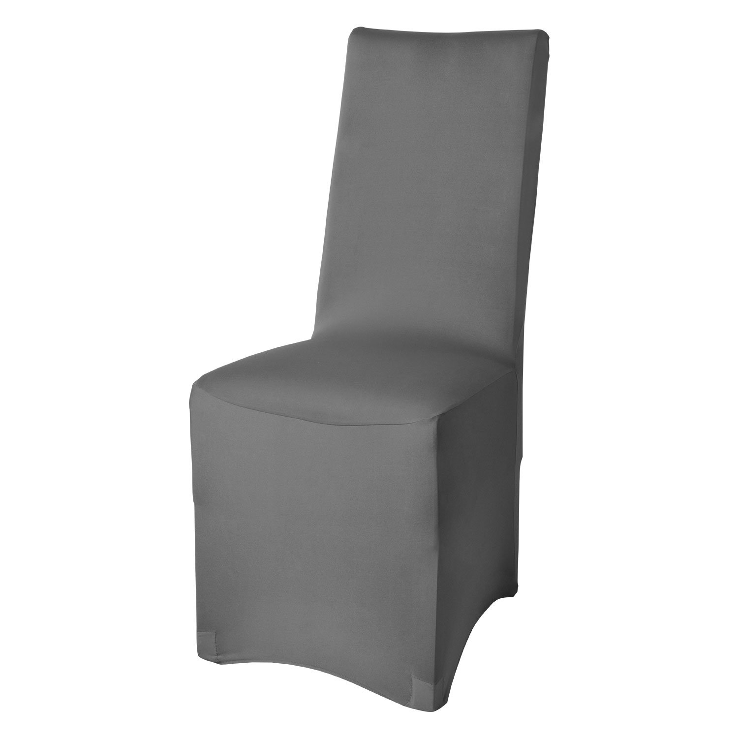 Beautissu Stretch Chair Cover Leona Dining Chair Slipcover 45x95cm Bi-Elastic Fitted Cover Chair Protection Brown