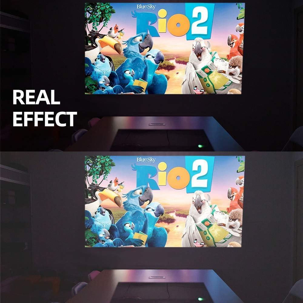 Proyector LED Proyector de Video casero HD 720P HD Soporte 1080P HDMI USB VGA AV Home Cinema TV Juego Computadora: Amazon.es: Hogar