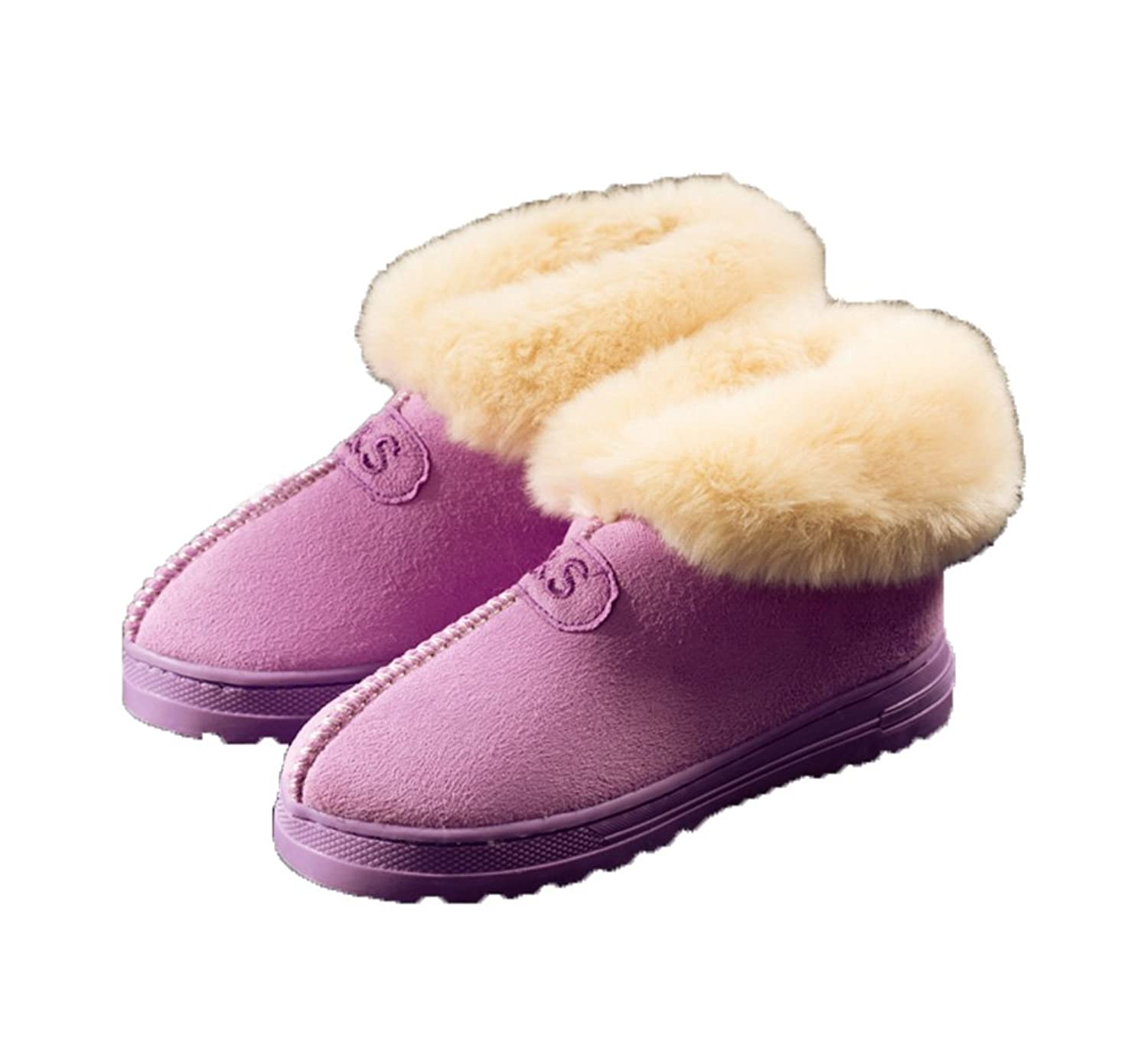 St. L'amour Mens Womens Nubuck Fur-Lined Anti-Slip Outdoor Winter Boots