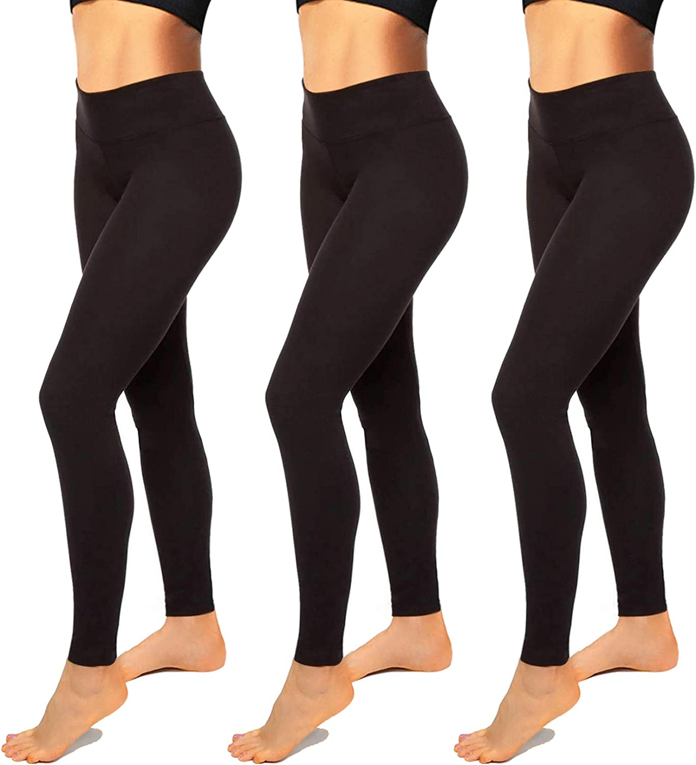 Womens Leggings-High Waisted Black Leggings for Women-Premium Jeggings for Workout, Yoga: Clothing