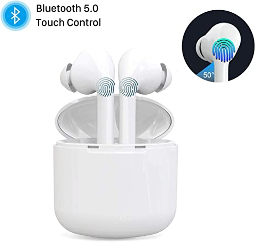 Wireless Earbuds, Bluetooth 5.0 True Wireless Earphones Smart Touch Control with Noise Cancellation, 30h Play time in-Ear Wireless Headphones Built-in Mic Sweatproof Headsets for Work Running Travel