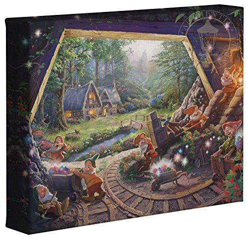(Thomas Kinkade Studios Snow White and the Seven Dwarfs 8 x 10 Gallery Wrapped Canvas)
