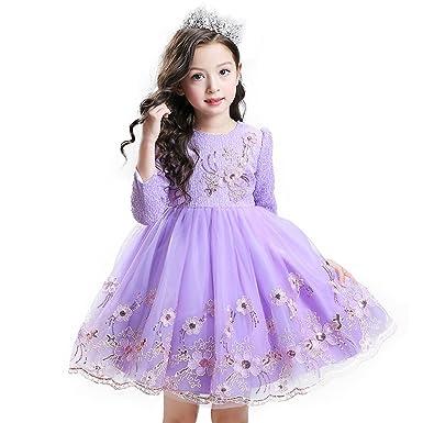 af389e8f1cf8b 秋と冬 長袖 女の子 子供 ドレス 舞台 衣装 発表会 ドレス 花柄 ドレス キッズ