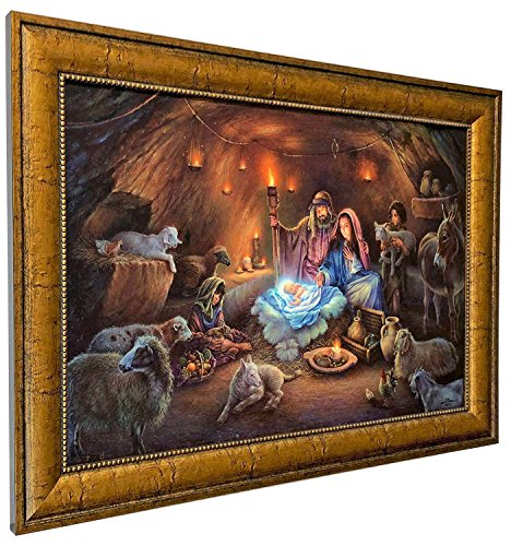 Tom duBois ~ No Room For Them in the Inn ~ CANVAS ~ Signed & Numbered ~ Framed