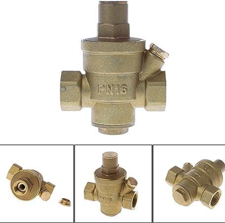 ZChun DN15 - Válvula reguladora de presión de latón con reducción ...