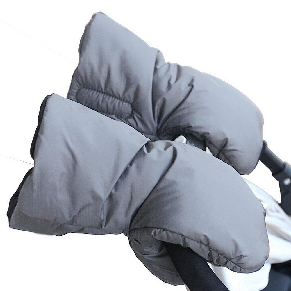 Cochecito Saco de abrigo de mano y # xFF0 C; Extra grueso impermeable anticongelante de invierno guantes niños cochecito de bebé cochecito accesorios ...