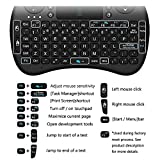 EASYTONE Updated Version 2016 Backlight I8 2.4G Mini Wireless Qwerty Keyboard with Touchpad Mouse Combo Rechargeable Li-ion Battery LED Backlit Portable for Google Android Smart TV,HTPC,TV Box, PC/Mac