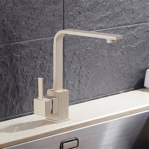 Commercial Single Lever Pull Down Kitchen Sink Faucet Brass ConstructedQuartz stone pot basin faucet can be rotated multi-color faucet copper hot and cold kitchen faucet, oatmeal ribbon point
