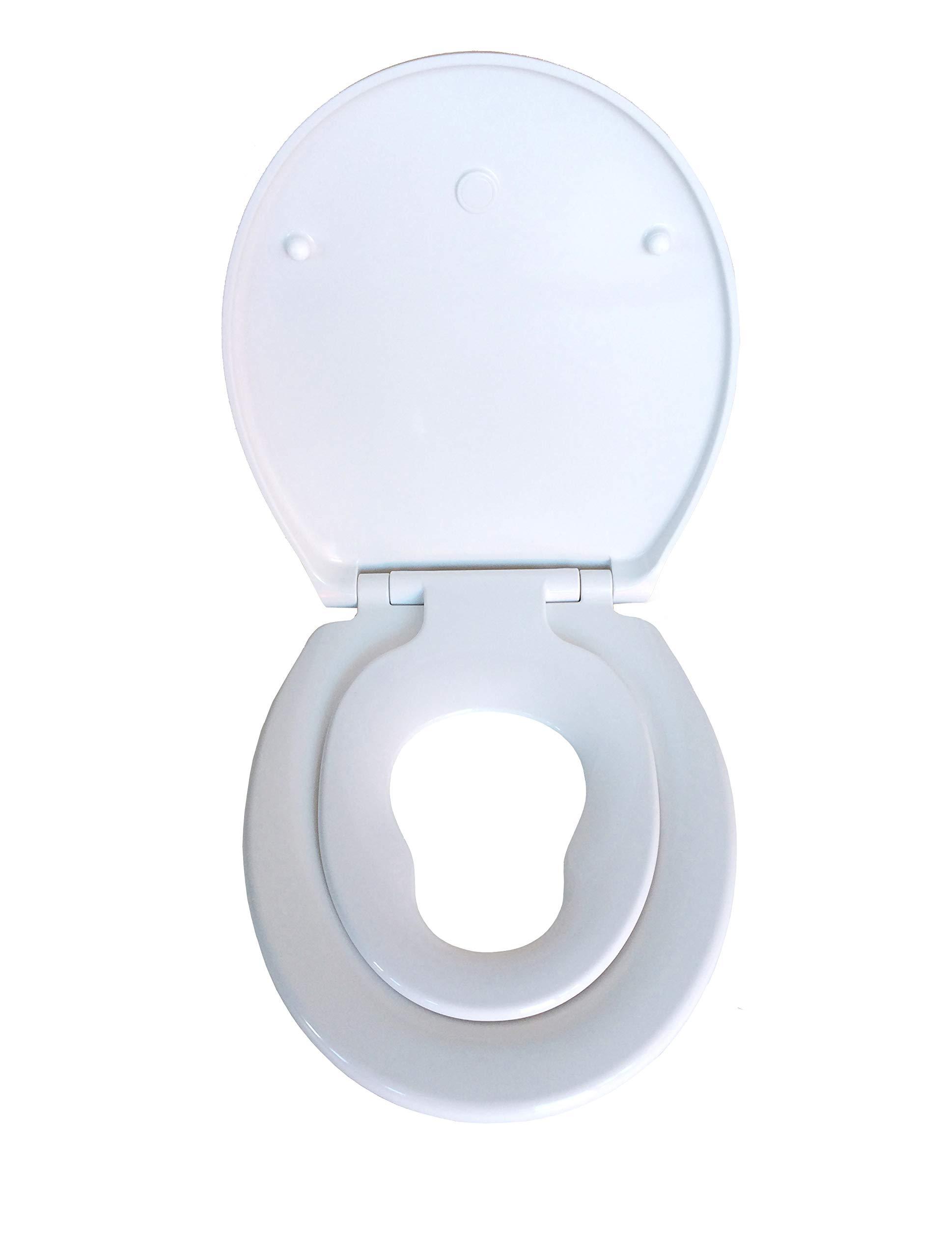 Siège WC ADOB pour enfants et toute la famille avec rabaissement  automatique, amovible pour faciliter le nettoyage de la céramique c4c64c2607f6