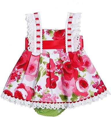 Vestido niña bebé de flores MARIA LUISA _ vestido niña rosa, vestido niña verano, vestido niña bonito, vestido niña elegante: Amazon.es: Ropa y accesorios