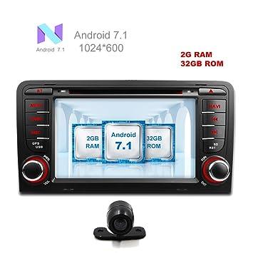freeauto Android 7.1 2 GB 32 GB GPS navegación para coche estéreo CD radio de coche