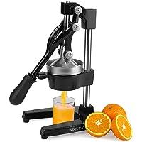 Secura exprimidor de mano – Exprimidor manual de frutas de grado comercial de prensa de naranja y limón, color negro
