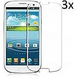 Vada-Tech | 3x bruchsicheres Panzerglas für Samsung Galaxy S3 Mini | Schutzfolie aus 9H Echtglas | Schutzglas zur Vermeidung von Displayschaden | blasenfreie Anbringung | 3 Stück