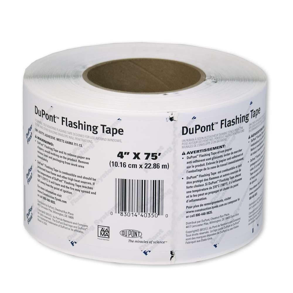 Dupont Tyvek Flashing Tape 4'' x 75' - 1 Roll