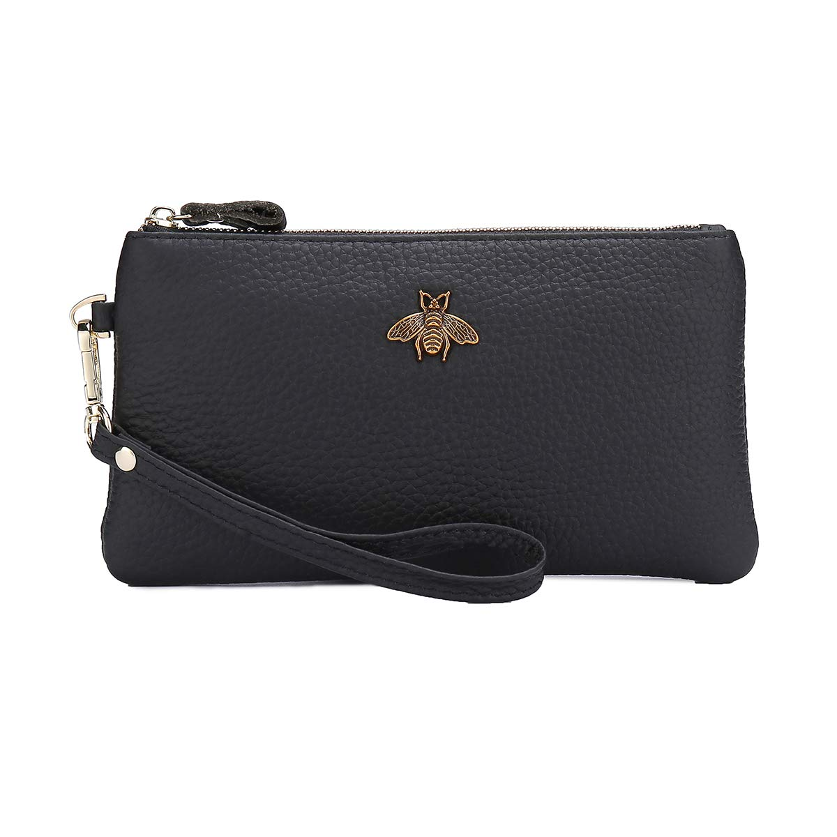imeetu Women's Wristlet Wallet Leather Clutch Purse with Wrist Strap