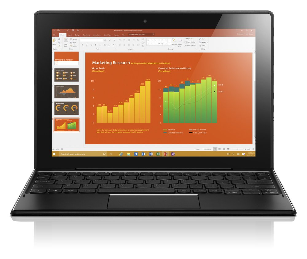 Lenovo 80SG000EGE - Tablet-PC (Intel Atom, 32GB, 2GB RAM, Intel HD Grafik 400, Win 10 Home), plateado: Amazon.es: Electrónica