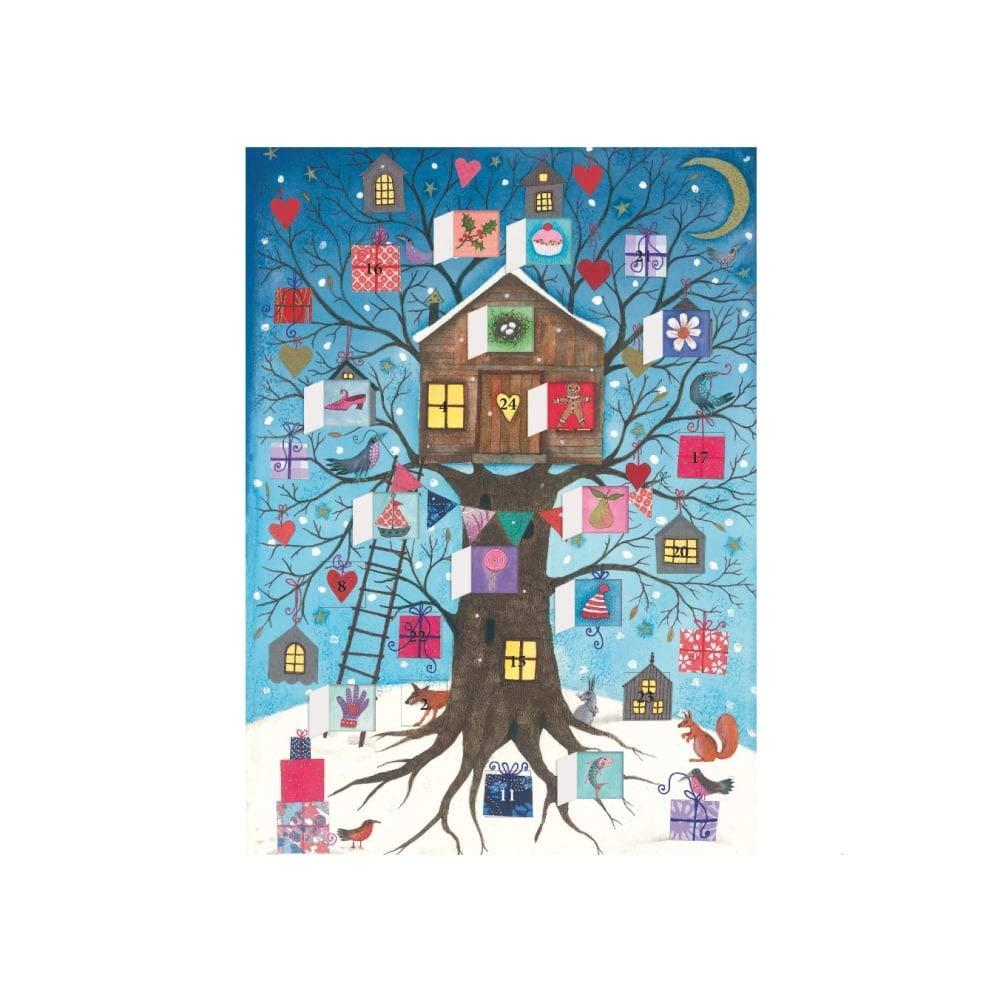 Roger La Borde Advent Calendar Christmas Card - Christmas Tree House
