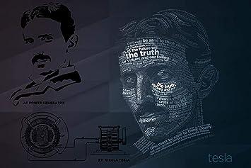 Mahalaxmi Art Wall Poster Nikola Tesla Electricity Wallpaper Poster