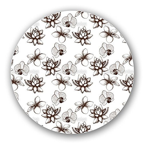 Uneekee Vintage Exotic Plants Lazy Susan: Large, pure birch wooden Turntable Kitchen Storage by uneekee