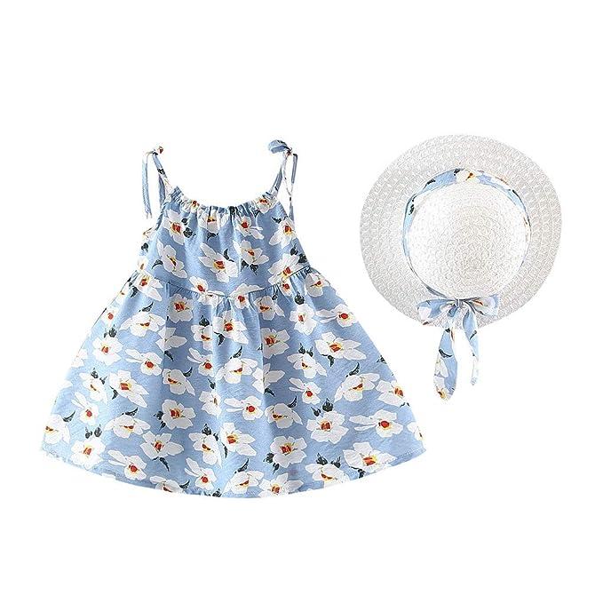 Vestido de bebé para niña, sin mangas, cuello redondo, con ...