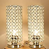 interesting modern bathroom fixtures Focondot Crystal Table Lamp, Decorative Nightstand Room Lamps, Bedside Night Light Lamp, Fashionable Small Table Lamp Set of 2 for Bedroom, Living Room, Dresser, Dining Room (2PACK)
