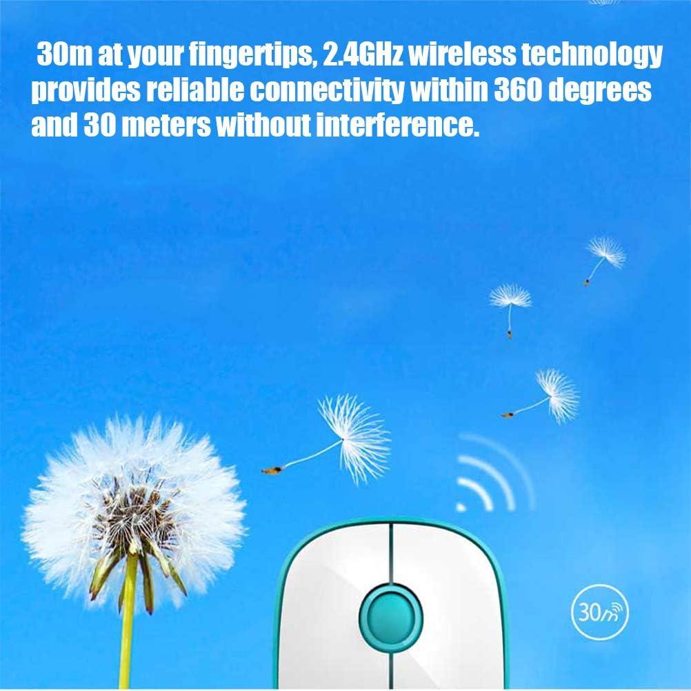 LDFANG pour Système Windows/Android/iOS/Mac - Souris Et Clavier Bluetooth sans Fil À 78 Touches - Bureau À Domicile,Blue Blue