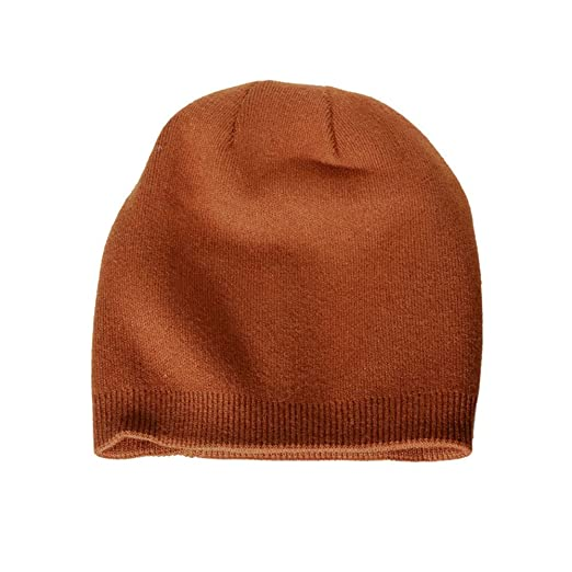 Caramel Color Cashmere Wool hat Female Winter Earmuffs Cold Cap Male Simple  Light Board Pile Cap 8817a84c67d