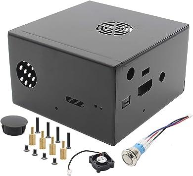 BliliDIY X850 V3.0 Gabinete De Caja De Metal A Juego + Interruptor De Encendido + Ventilador De Enfriamiento para X870 / X860 / X735 Placa De Expansión Raspberry Pi: Amazon.es: Electrónica