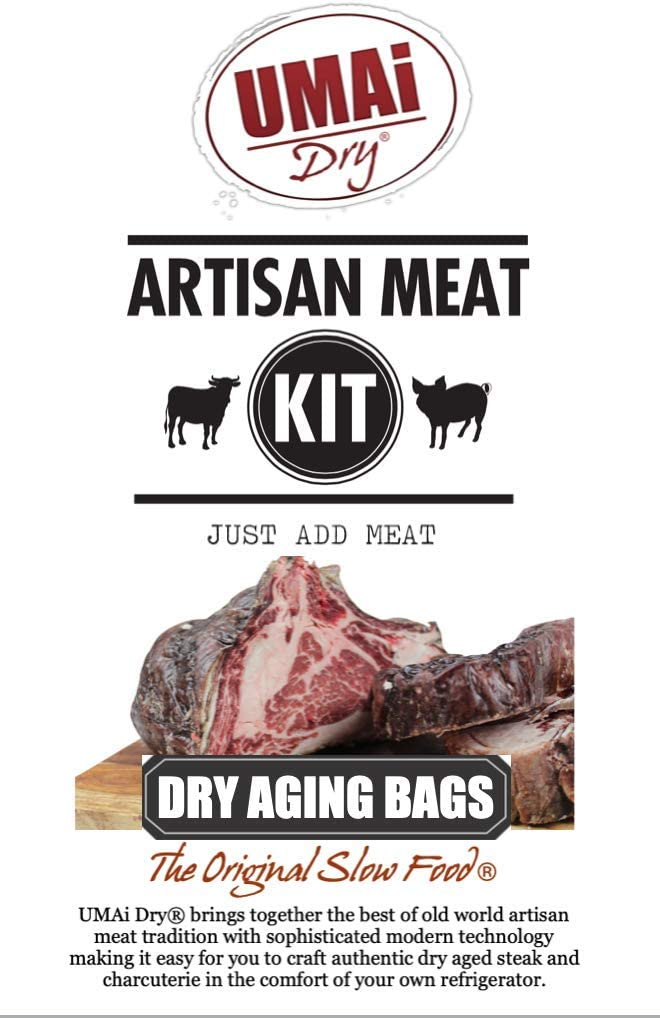 UMAi Dry Premium Dry Age Bags for Meat | Dry Aging Meat Kit for Refrigerator | Simple at Home Method for Brisket Bone-in | Packet Includes 3 Bags