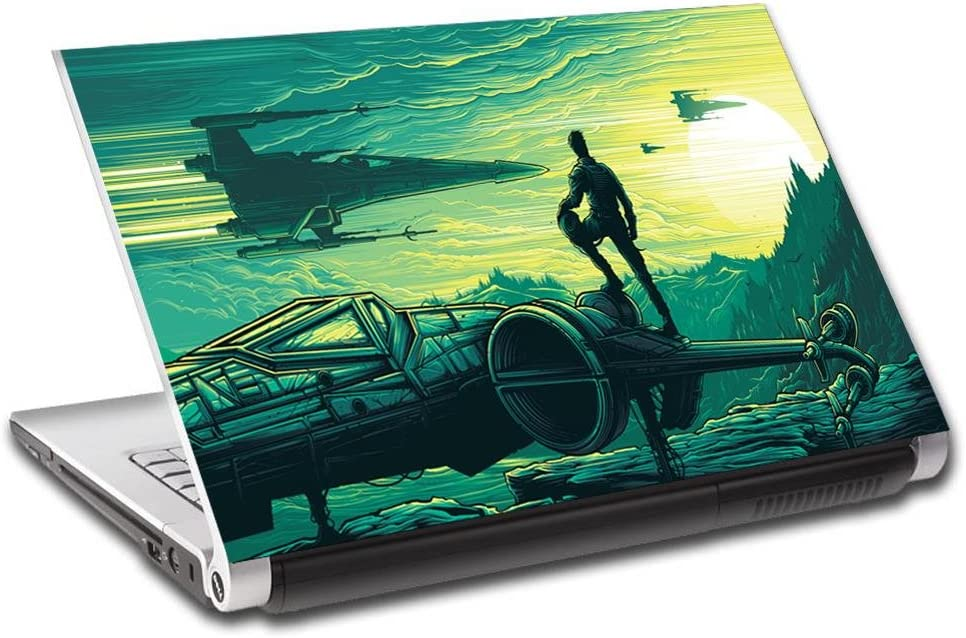 """Star Wars Artwork Personalized LAPTOP Skin Decal Vinyl Sticker ANY NAME L613, 15.6"""""""