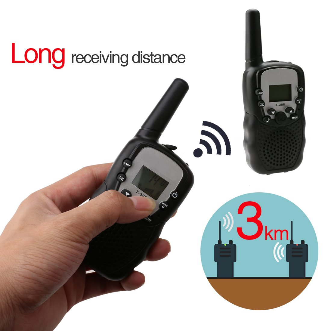 A-SZCXTOP 2 Piece Walkie Talkie for Kids Adult - 22 Channel/Take About Radio long DistanceInterphone for Outdoor Camping Travel