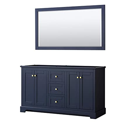 Wyndham Collection Avery 60 Inch Double Bathroom Vanity In