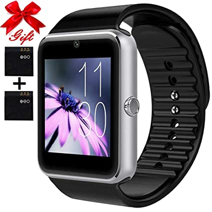 Smart Watch for Android Phones with SIM Card Slot Camera, Bluetooth Watch  Phone Touchscreen Compatible iOS Phones, Smart Fitness Watch with Sleep
